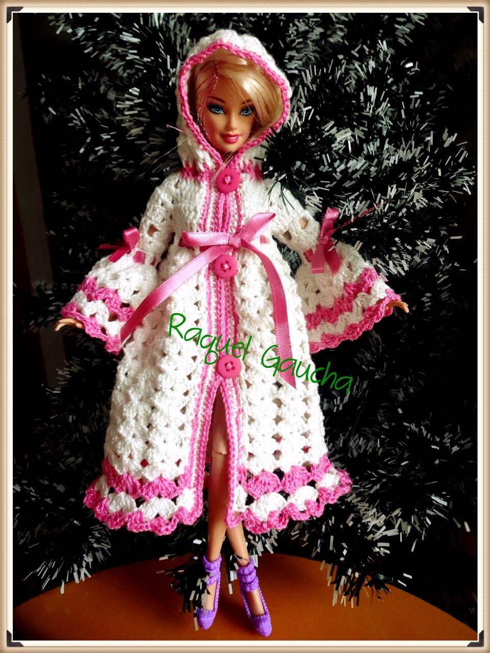 #Barbie #Doll #Roupão #Crochet #Cléa5 #RaquelGaucha