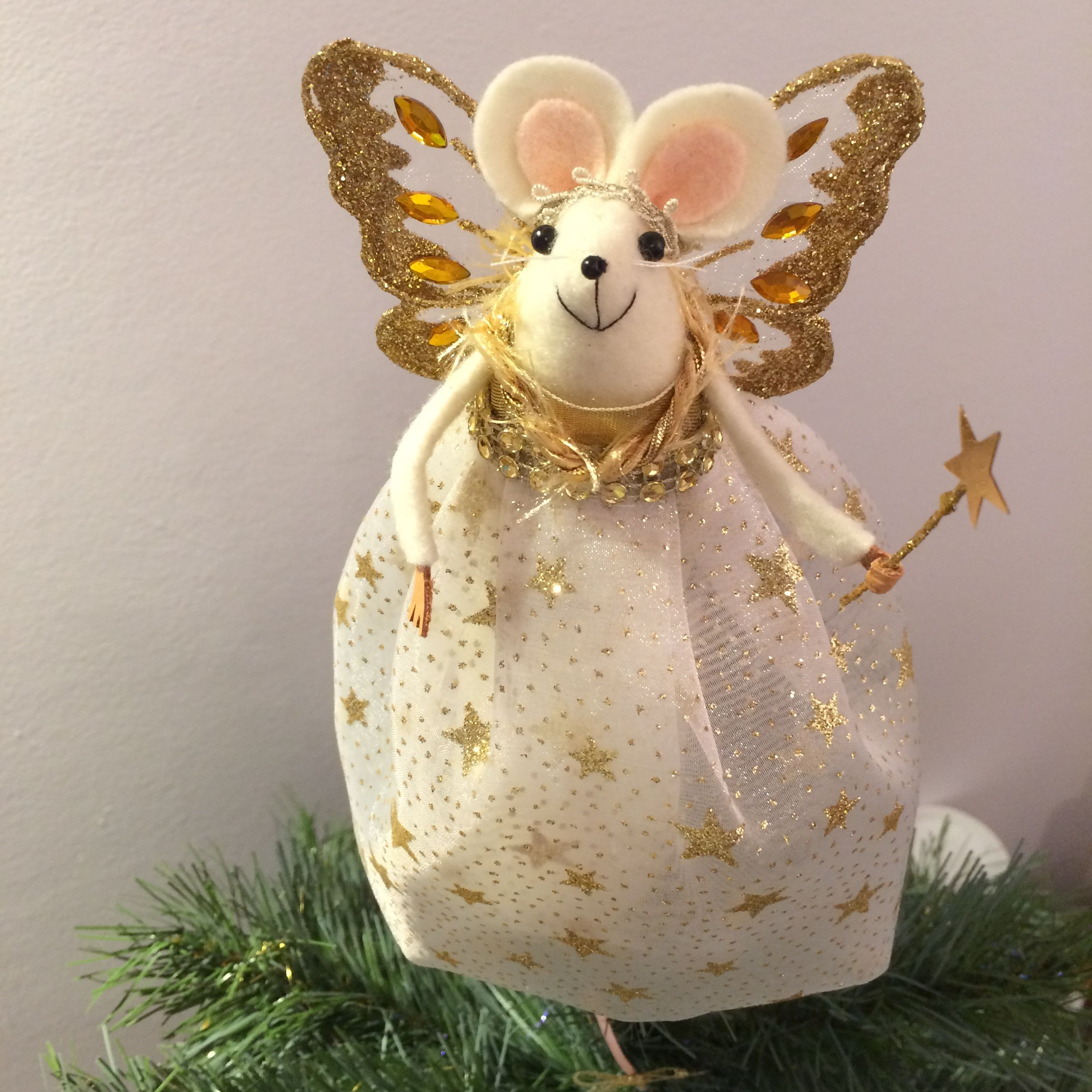 Fairy Mouse Christmas Tree Topper @Themerrymice And Etsy