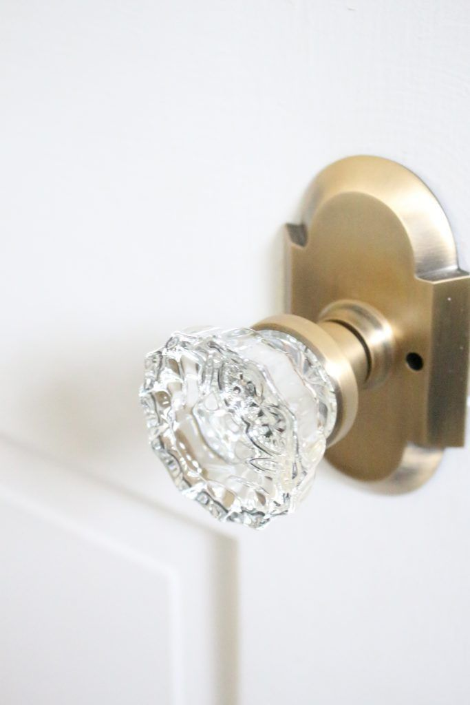 Vintage inspired crystal doorknobs for a cottage style update nostalgic warehouse crystal knobs with antique brass cottage plate home design diy do solutioingenieria Images