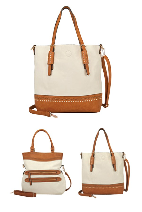 The Harper Tote - A 9th & Elm Favorite! Made from Vegan Leather and comes in three different color options! Shop now: https://9thelm.com/designer/coco-carmen.html