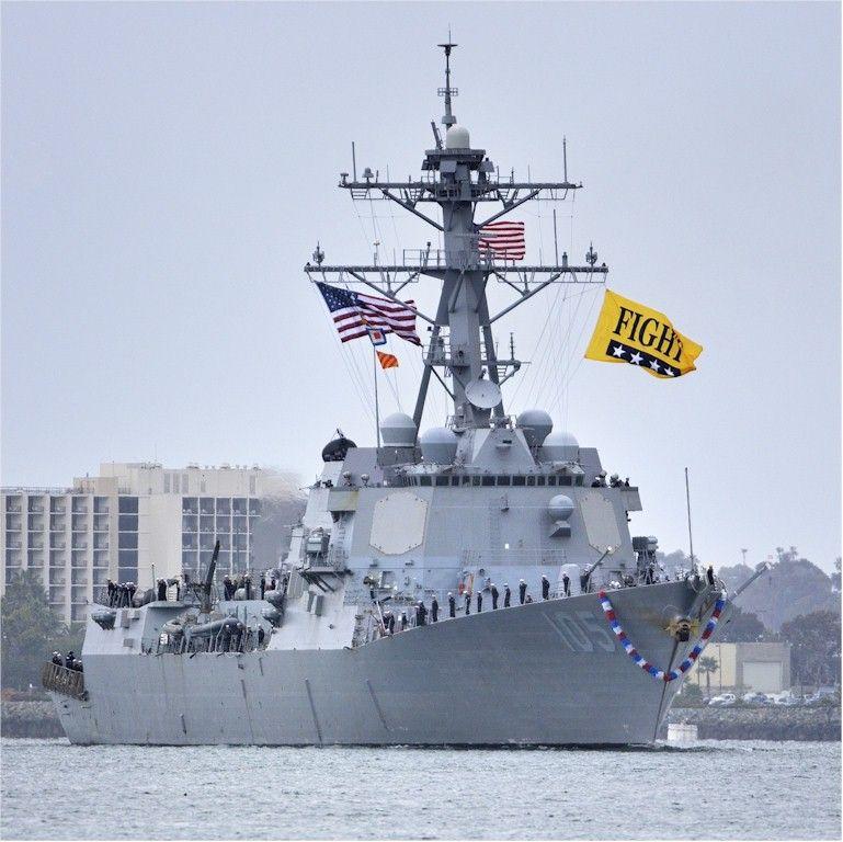 Arleigh Burke Class Guided Missile Destroyer USS DEWEY (DDG-105).