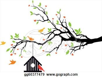 Bird House On Spring Tree Free Clipart Spring Tree Tree