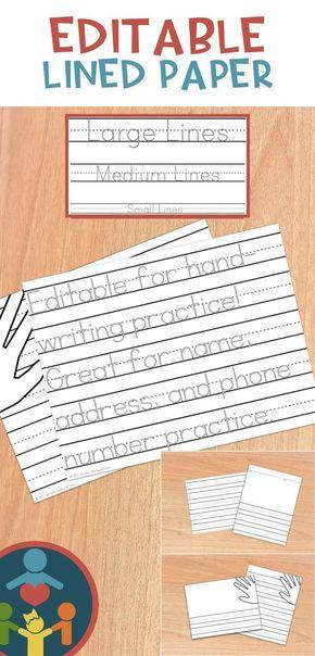 Kindergarten Primary Lined Paper  Print Pinterest Cursive - editable lined paper