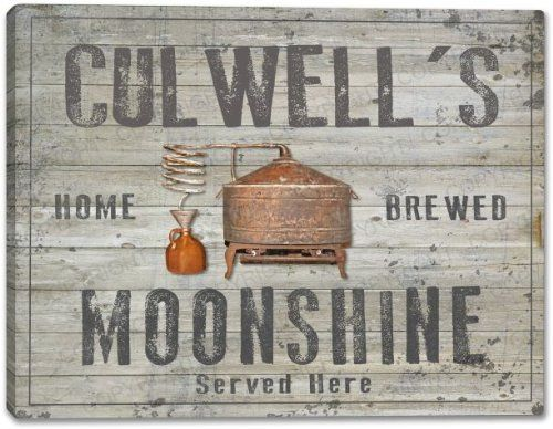 CULWELL'S Home Brewed Moonshine Stretched Canvas Print, http://www.amazon.com/dp/B00KFS4QYI/ref=cm_sw_r_pi_awdm_hlTRtb1N80AF9
