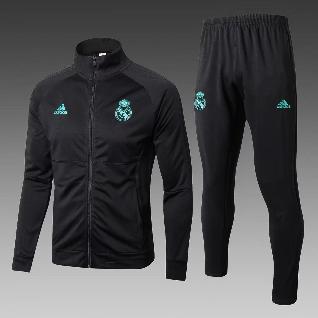 Real Madrid 2017 18 Black Men Jacket Tracksuit Slim Fit Z M A N I