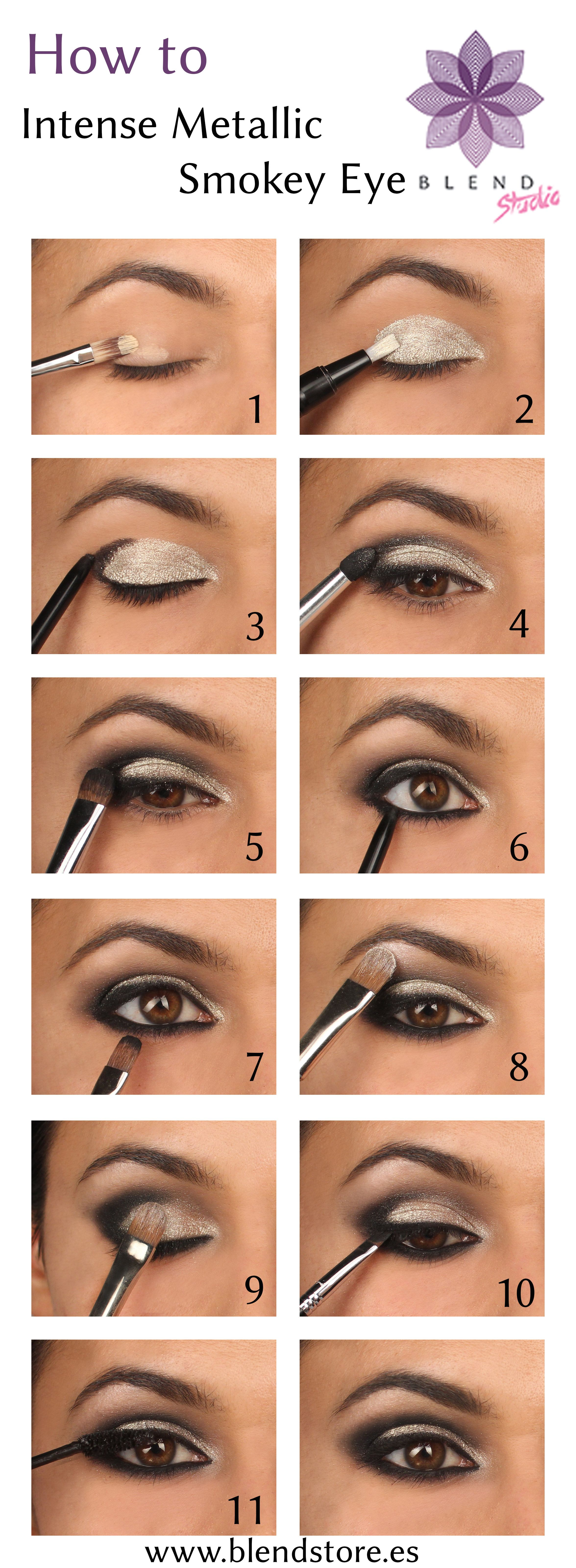 How To Create A Sparkly Intense Metallic Smokey Eye Great Christmas Look