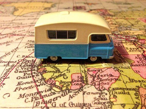 SALE Vintage model Camper Van motorhome RV English camper van - all metal RARE