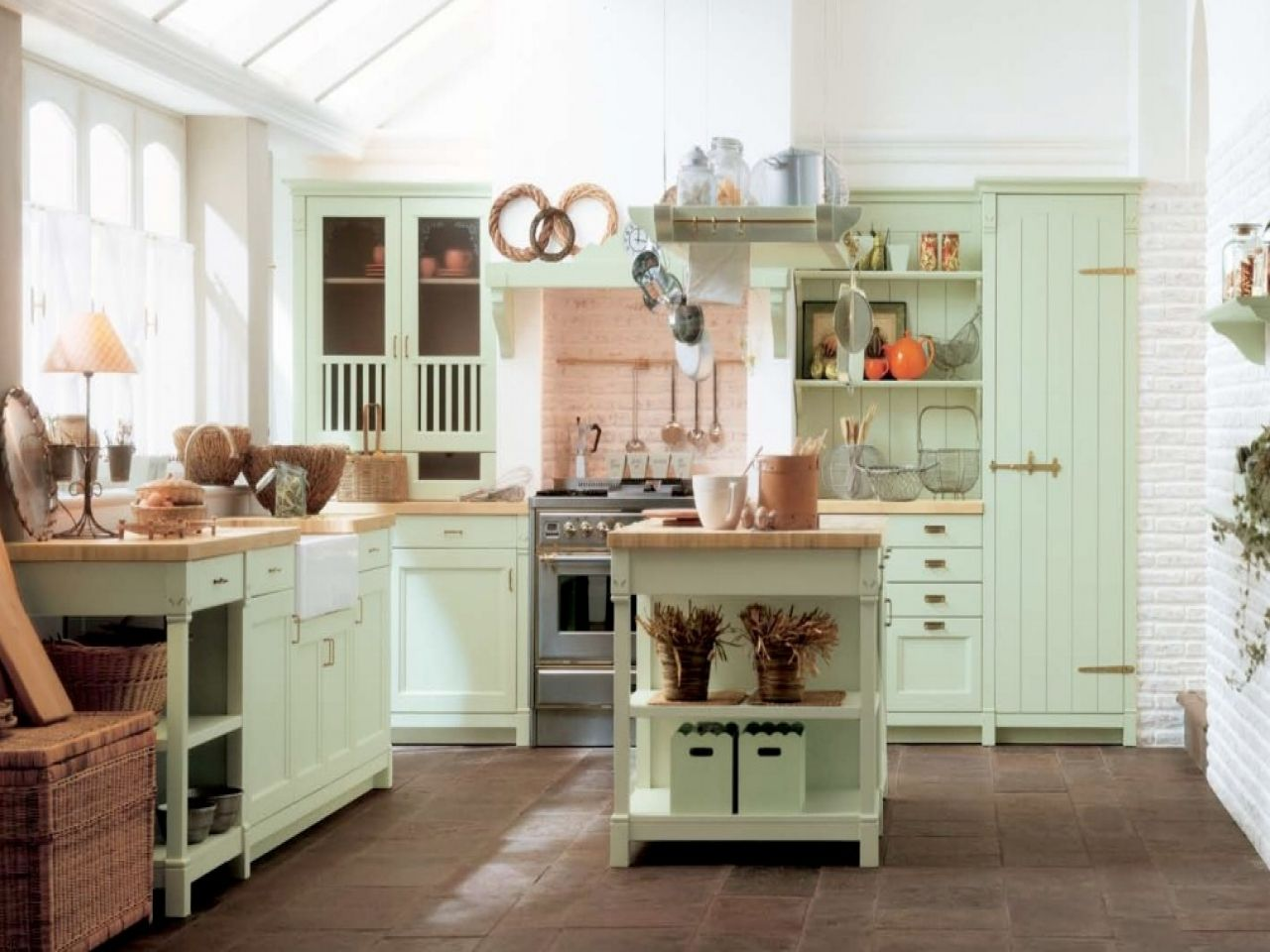 country farmhouse style kitchens red country kitchen country
