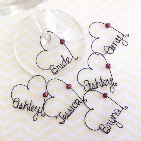 Bridesmaid Gift Tags, Bridal Shower Party Favors, Bridal Party ...