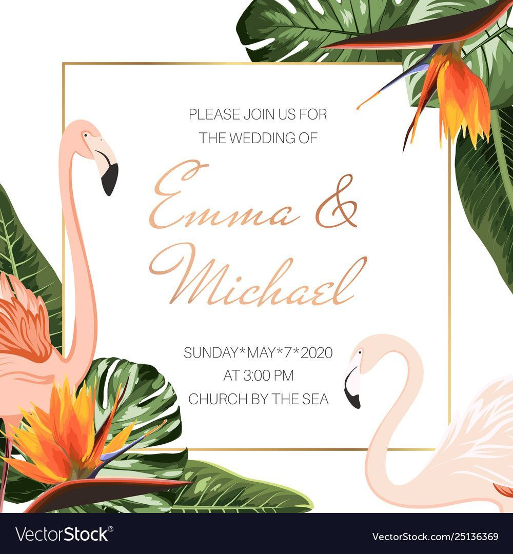 Wedding Event Invitation Card Template Tropical Inside Event Invitation Card Tem Card Event Event Invitation Flower Invitation Business Events Invitation