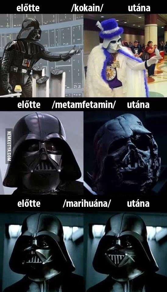 A drogok hatása Darth Vaderre