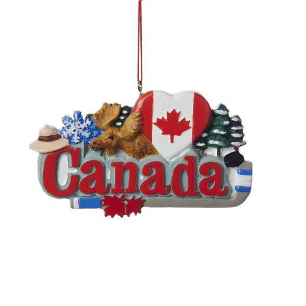 Christmas Ornaments For Sale Canada: RESIN #CANADA SIGN HANGING #ORNAMENT ITEM # J1426