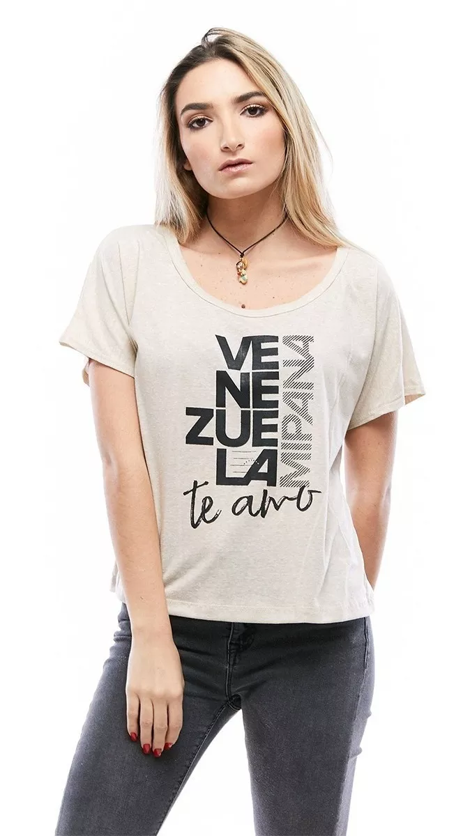 Franela Ancha Para Dama Venezuela Mi Pana Rose Fashion ...
