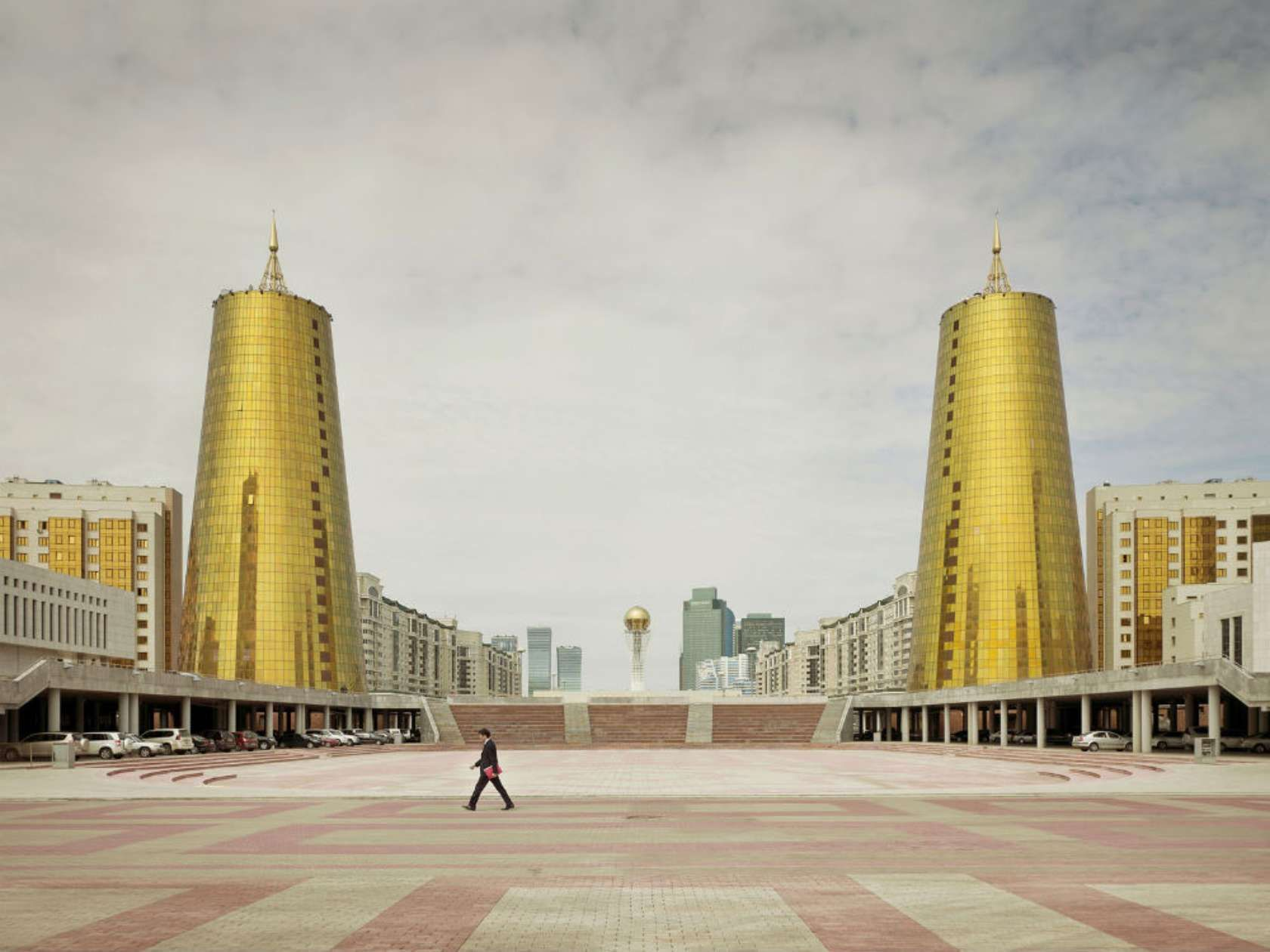 Futuristic buildings of the late USSR