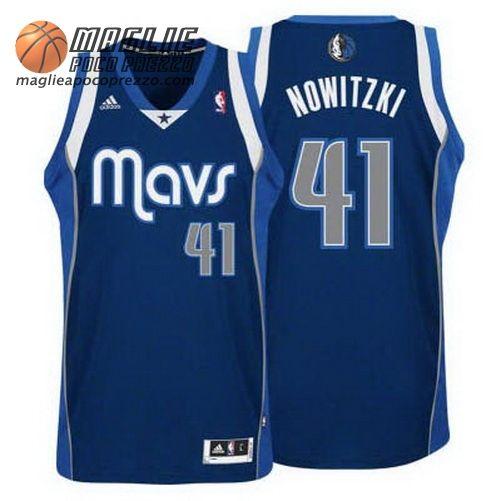 vendita outlet liquidazione a caldo scelta migliore Canotte nba Swingman Nowitzki #41 blu marino Dallas ...