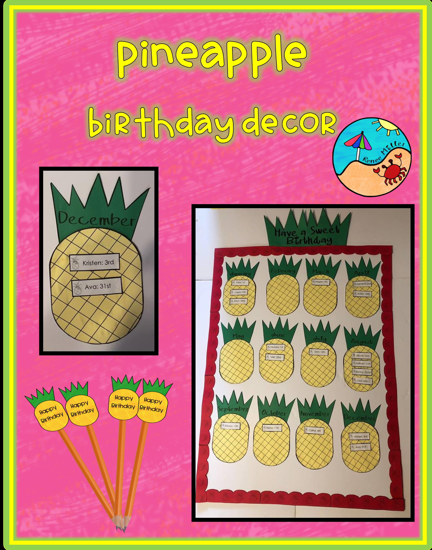Back to School Bulletin Boards: Pineapple Birthday Display ...