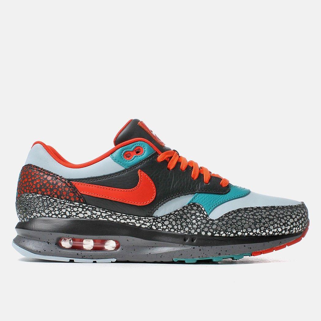 Nike Air Max Lunar1 Deluxe Shoes - Antarctica/Team Orange