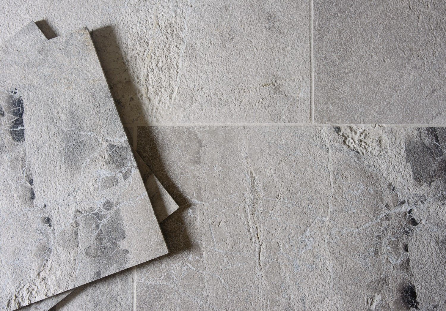 Striking detail on our Anzer Grey Sandblasted Marble