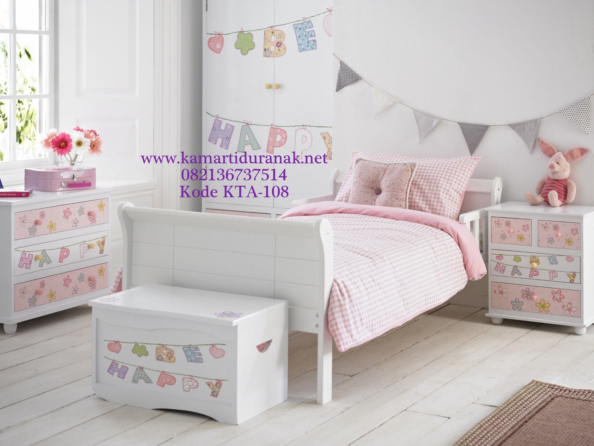 Bed cover my love anak - Model Set Kamar Anak Lukis Sederhana Untuk Perempuan Terbaru Kamar Set Anak Perempuan Karakter Pink Single