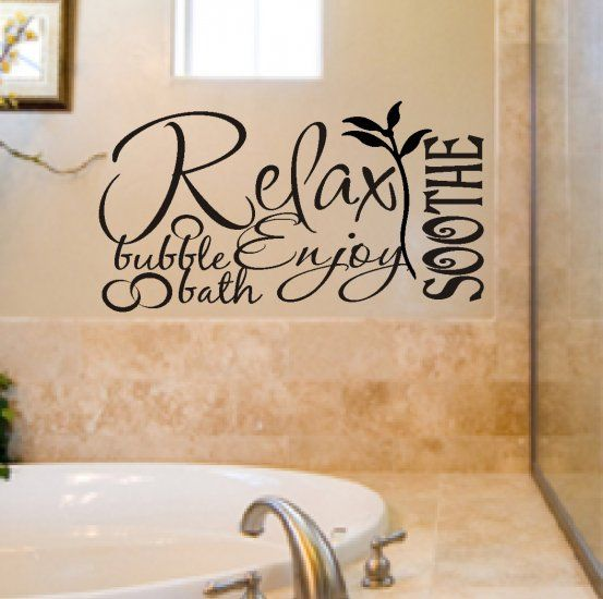calgon take me away commercial   nice Relax vinyl wall art featuring ...