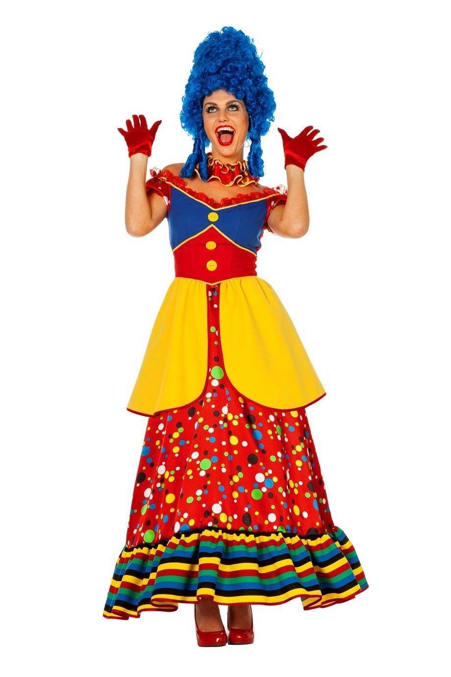 Carnavalskleding Dames Clown.Dames Clown In Een Vernieuwende Uitvoering Bestaande Uit Jurk En