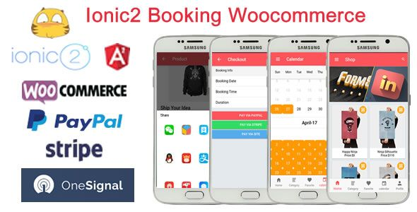 awesome Ionic2WooBooking - Ionic2 Booking Woocommerce