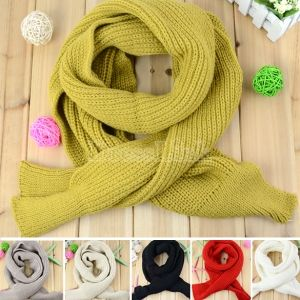 New Women's Fashion Solid Color Knitting Scarf Long Scarf Cape Scarf Wrap Shawl 6 Colors