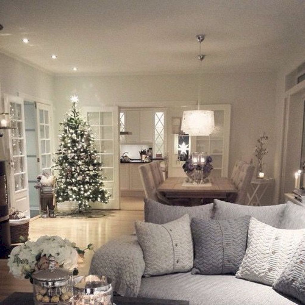 Adorable 40 Christmas Living Room Decor And Design Ideas Source Link Https Decoreditor Christmas Living Rooms Christmas Decorations Living Room Home Decor #open #living #room #decor #ideas