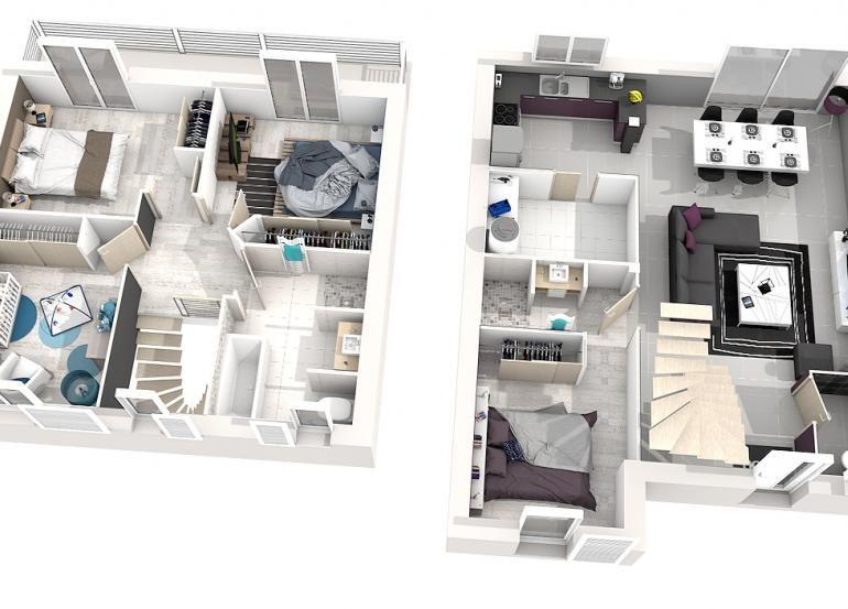 Modele Maison Iris 4 Chambres 3d Plan Maison 4 Chambres Maison