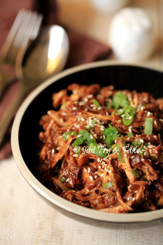 Resep Ayam Suwir Saus Teriyaki Resep Ayam Makan Malam Makanan Dan Minuman