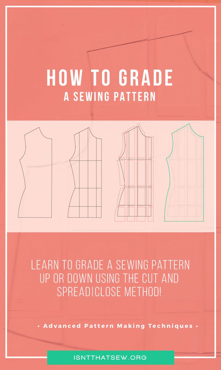 How To Grade A Sewing Pattern Sewing Techniques Sewing Hacks Sewing Projects For Beginners