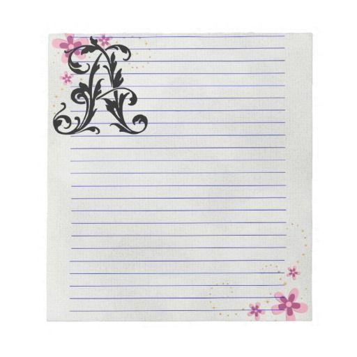 Leaf Letter A Memo Pads #LetterA #MemoPad #NotePad