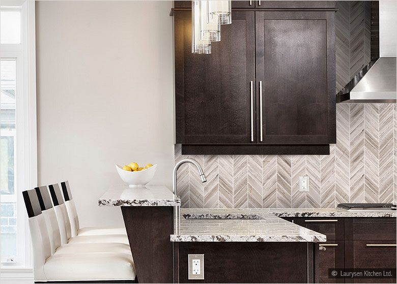 Modern Kitchen Marble Backsplash espresso cabinet delicatus white countertop marble backsplash