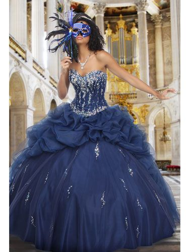Blue Quinceanera Dress- I know I'm not Mexican or anything, but I do like this dress.:)
