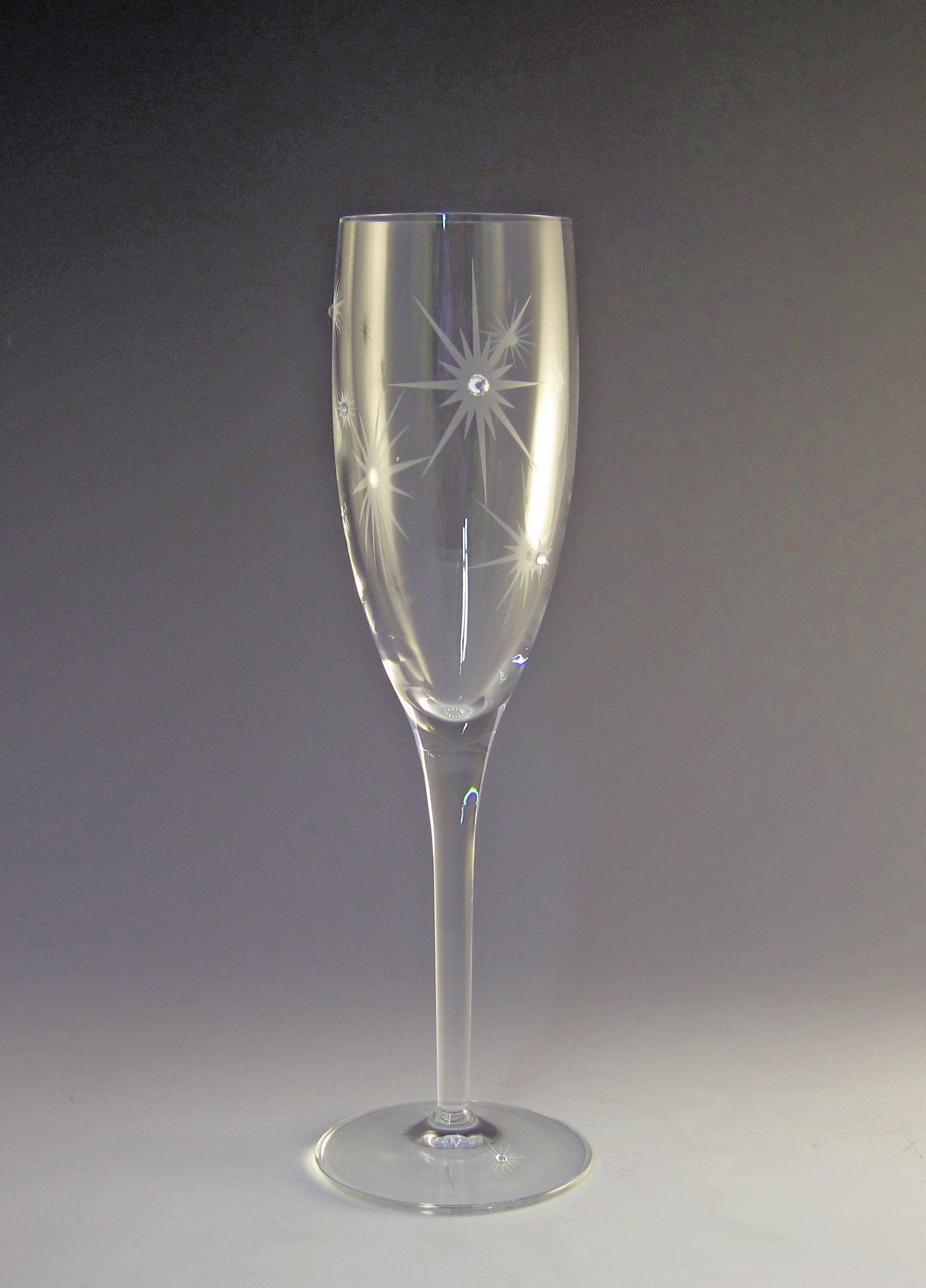 685ae9bf156b Star Twinkle 7oz Champagne Flute (Set of 2) $49.99 | AstaGlass on ...