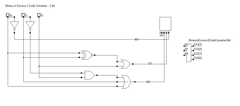 Binary to Excess 3 code converter - 3 bit | Coding, Converter, Binary | Bcd To Excess 3 Logic Diagram |  | Pinterest