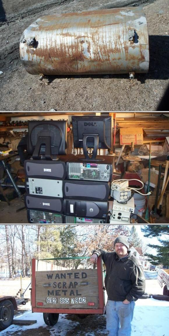 Brian Keacher is available to pick up scrap metal and computer stuff of all kinds. He is also available to haul car batteries, steel, printers, VCRs, computer towers and cell phones for free.
