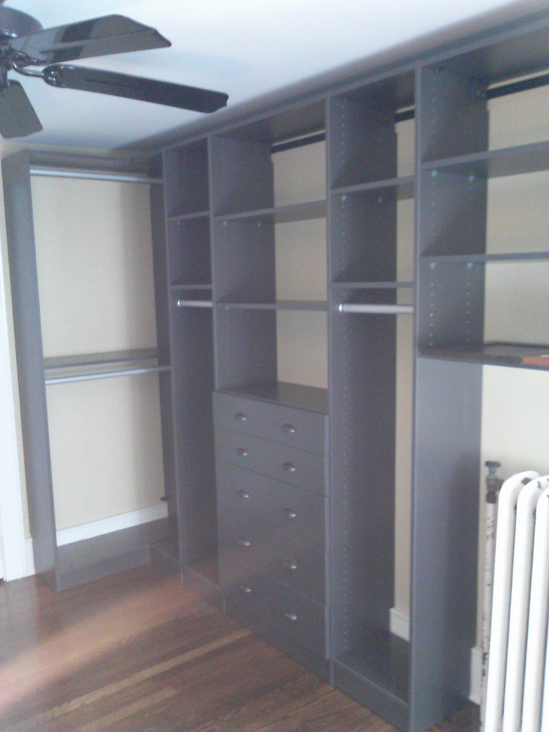 Walk in closet design for the home pinterest - Small closet design layout ...