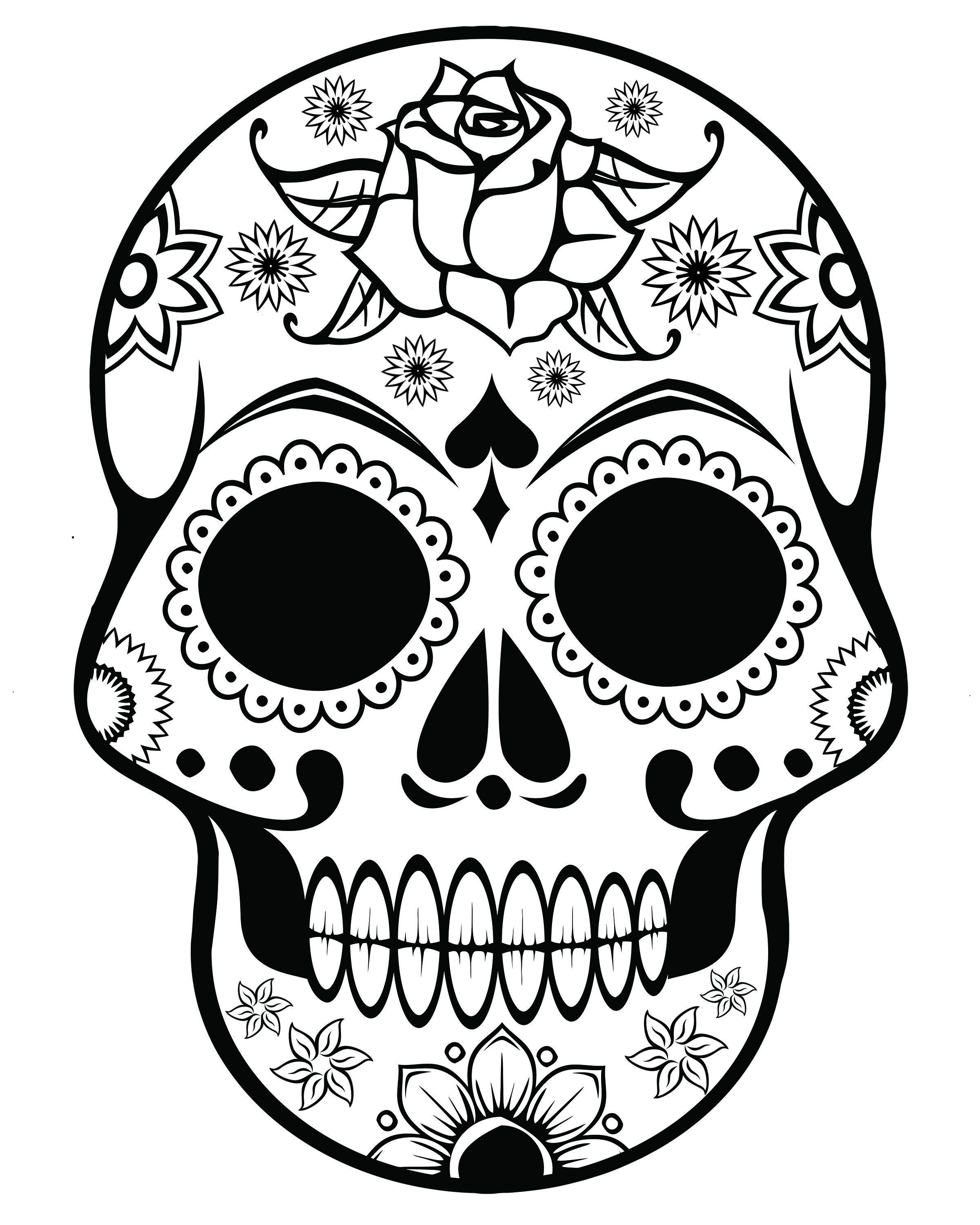 Adult-Coloring-Pages-Skull-51959.jpg (2400×3000) | COLRING PAGES ...