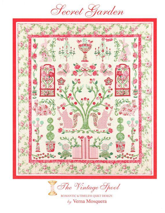 SECRET GARDEN Pattern using VERANDA fabric both by donellefritz, $52.43