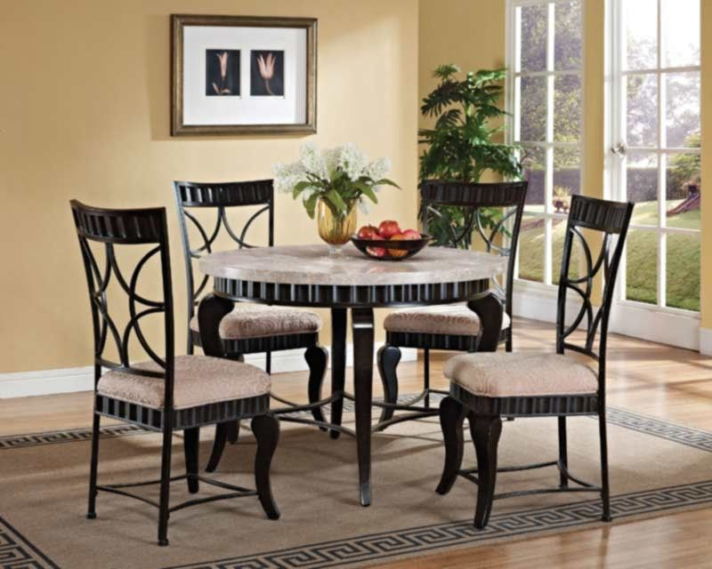 Acme Furniture  Lorencia 5 Piece Round Dining Table Set  70290 Adorable Acme Dining Room Set Decorating Inspiration