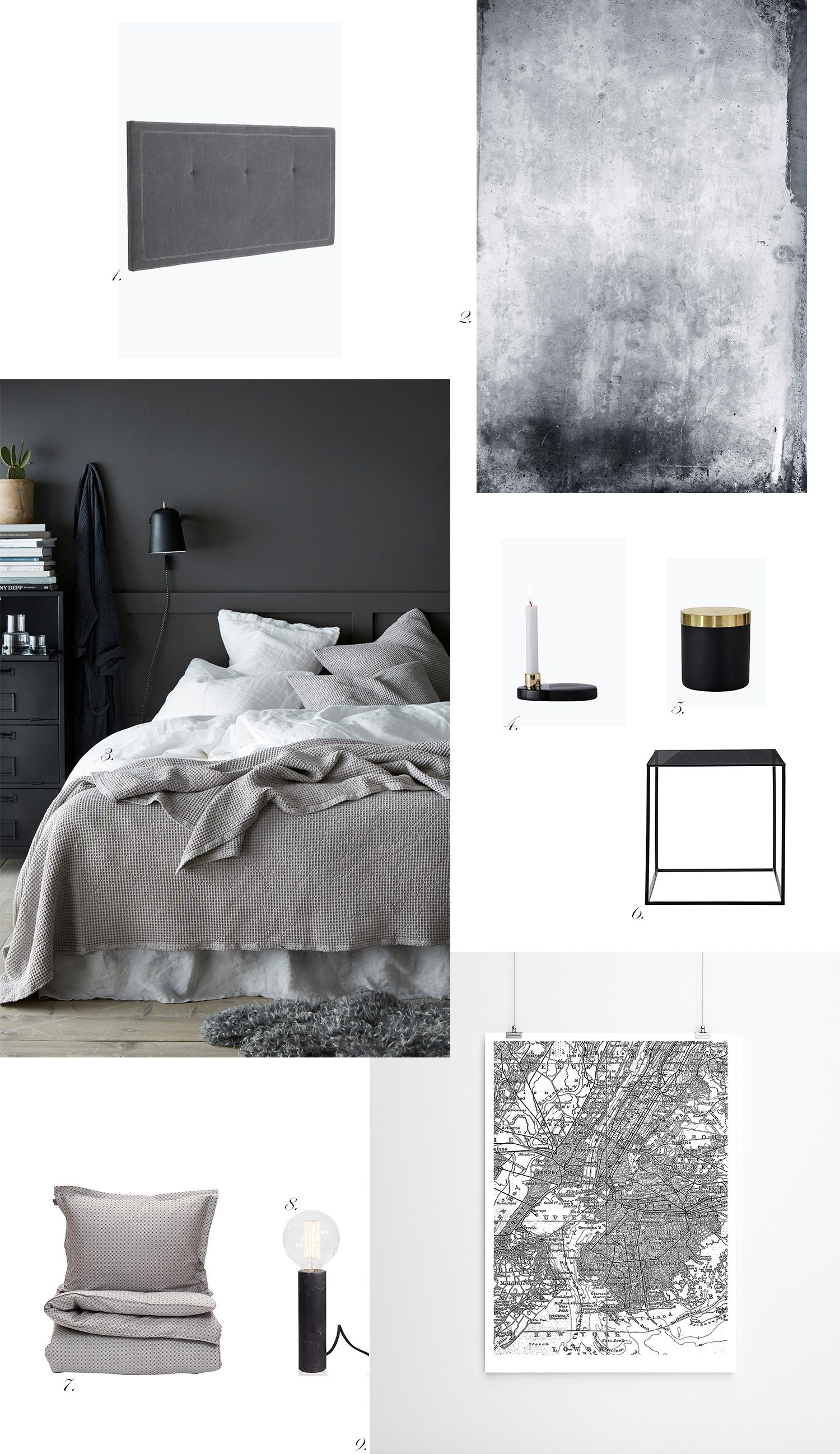 Char and the city - Bachelor pad - ideas for interior design and decoration - inspiration from webshops - grey, black and white - read more on the blog: http://www.idealista.fi/charandthecity/2016/09/28/bachelor-pad #bachelorpad #interior #design