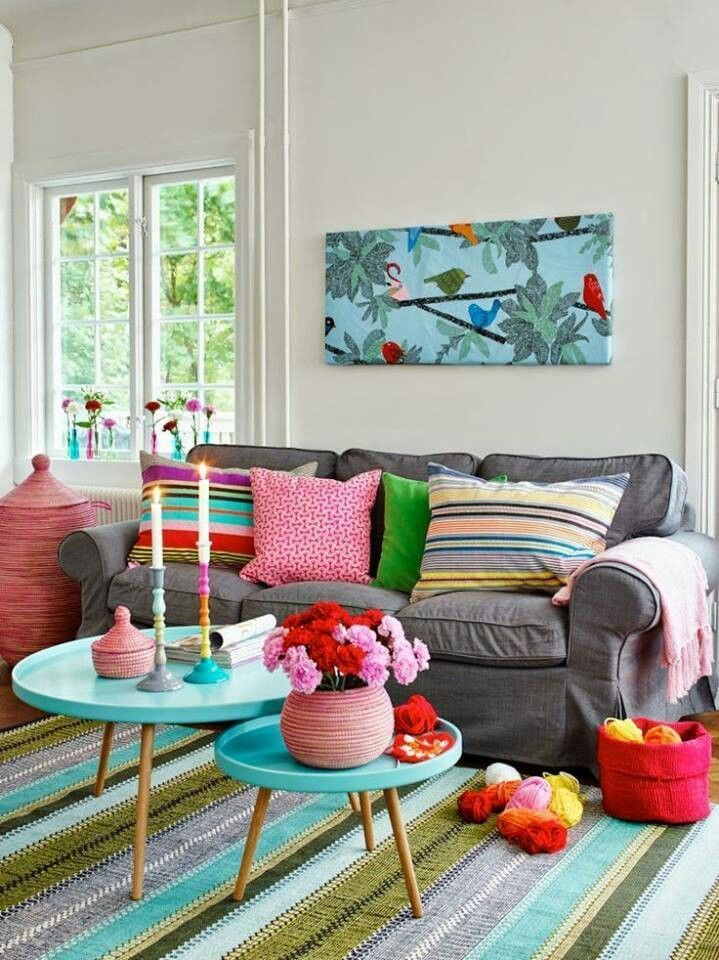 astounding bright colorful living room ideas | Pin by gita grover on drawing room | Colourful living room ...