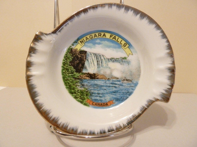 Ash tray souvenir niagara falls canada by bjsdodads on