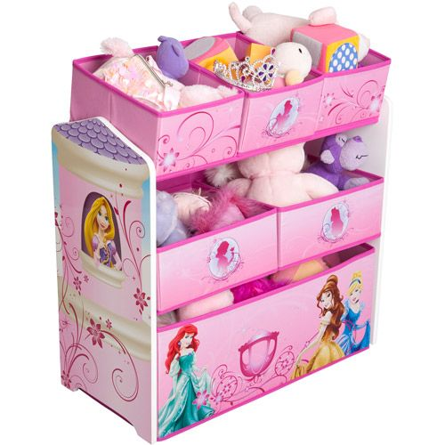Disney   Princess 3 Tier Toy Organizer with Rollout Toy Box