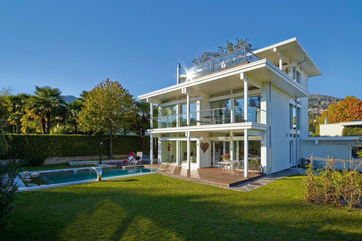 Holzhaus Architektur exklusive holzhaus architektur mit glas fassade einfamilienhaus