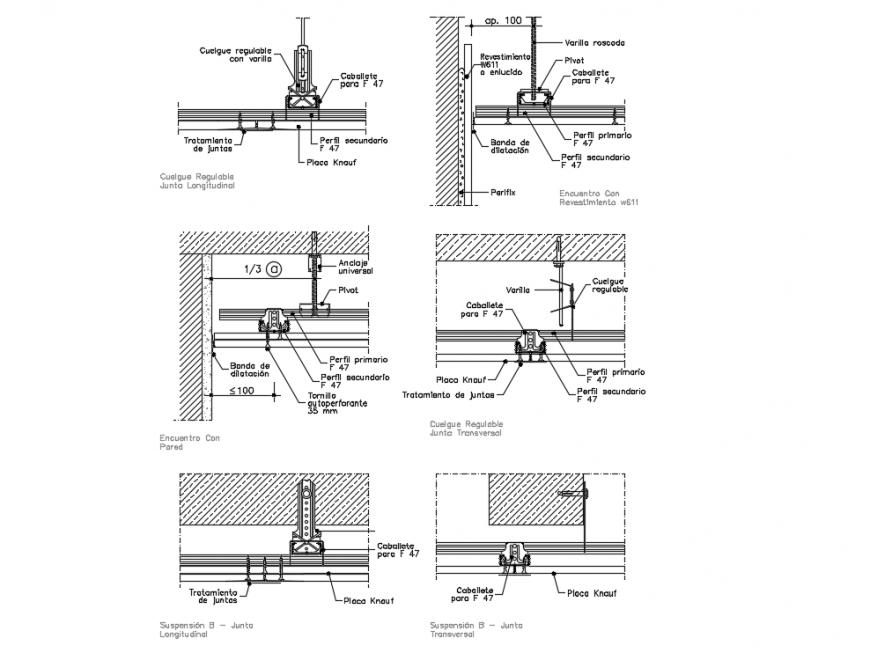 Knauf System Construction Details Of False Ceiling Dwg File False Ceiling Construction Ceiling