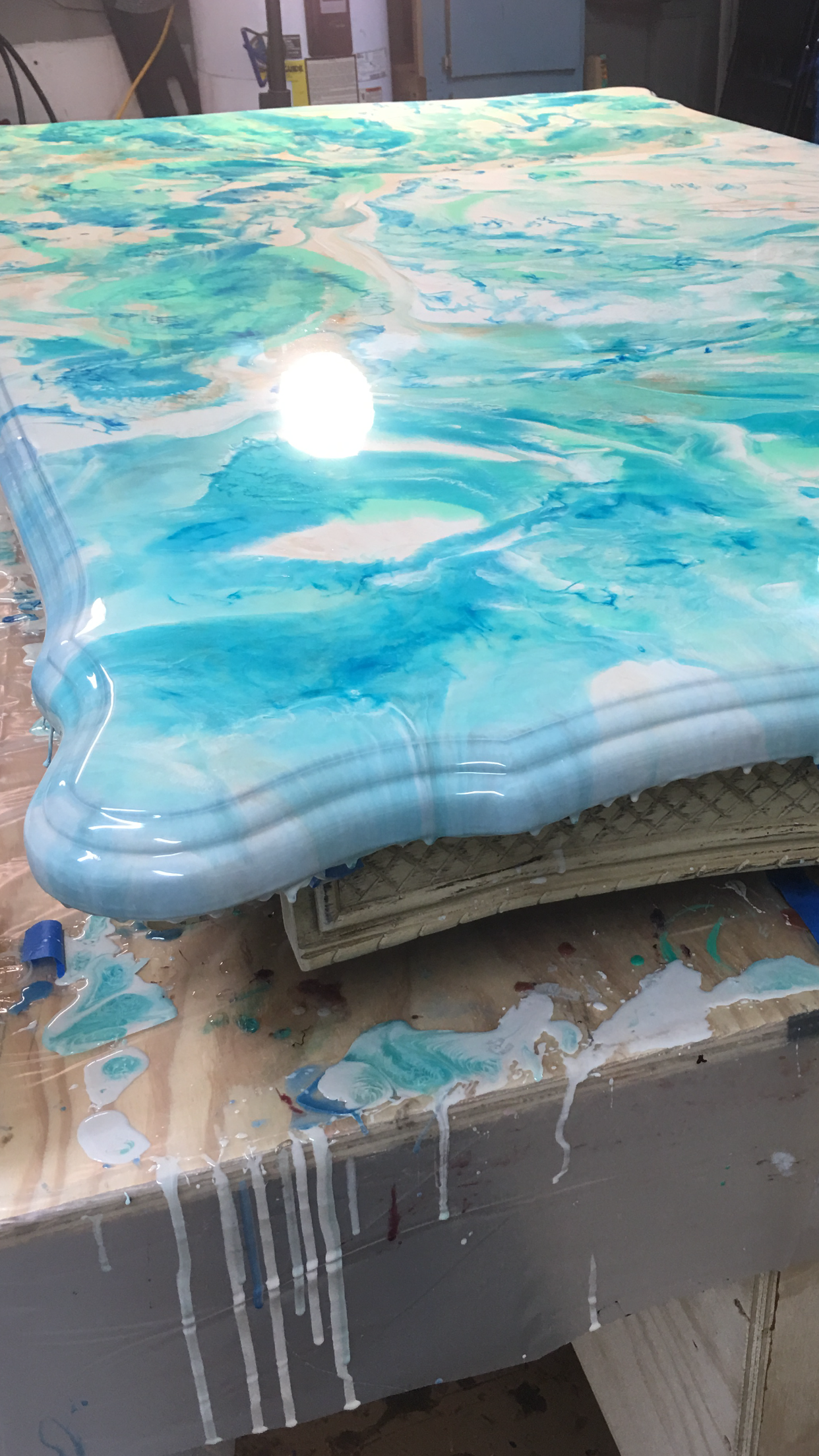 Resin Painted Dining Room Table Work In Progress