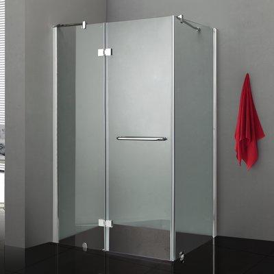 Jade Bath Quadro Rectangle Hinged Shower Enclosure Size 72 5 H X 48 W X 36 D Frame Finish Silver Shower Enclosure Rectangular Shower Enclosures Frameless Shower Enclosures