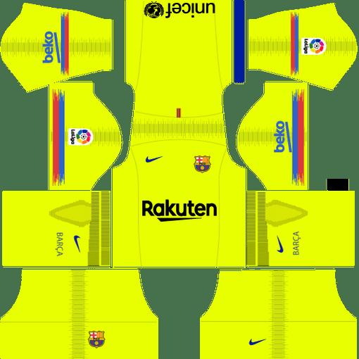 Barcelona Away Kit 2019 Dream League Soccer Kit Barcelona Football Kit Soccer Kits Barcelona Team